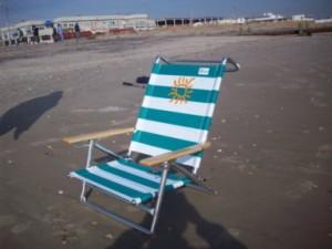 Berts Beach Rentals aluminum chair