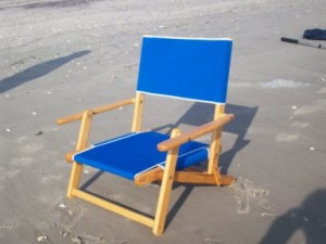 Berts Beach Rentals wooden chair